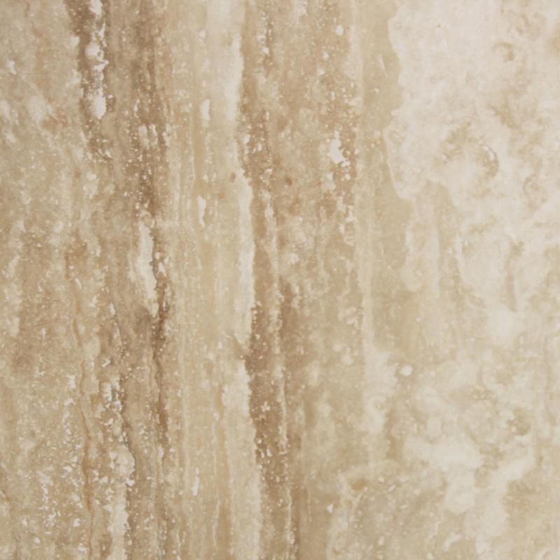 305x305x12mm Vein Cut Polished Filled Travertine Tile (#8375)
