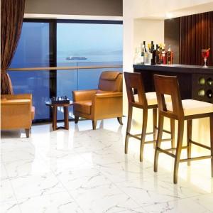 Venatino Carrara Marble Look Polished Glazed Tile
