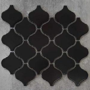 Lantern Black Matt Porcelain Mosaic