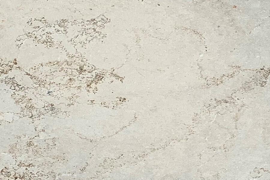 Ash Grey Sandblasted Tumbled Limestone Tile 8740
