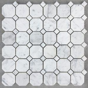 Bianco Carrara Octagon Matt Mosaic sheet