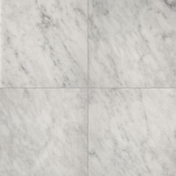 305x305x10mm Bianco Carrara Polished Italian Marble Tile (#8311)
