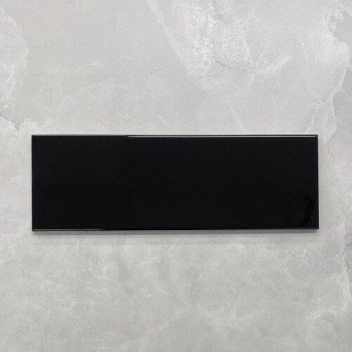 Black Gloss Ceramic Subway Wall Tile 4143