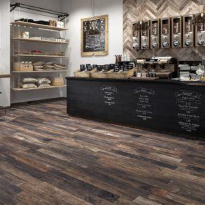Black Timber Look Matt Non-Rectified Italian Porcelain Tiles