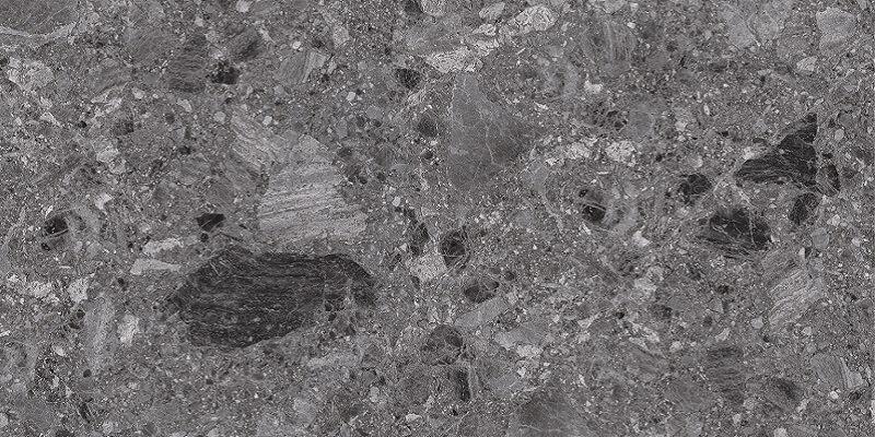 Breccia Dark Grey Terrazzo Look In/Out Rectified Porcelain Tile 3687