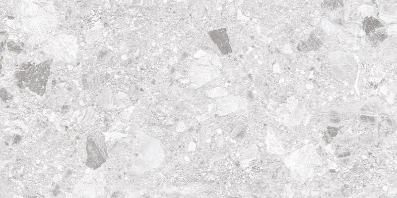 Breccia Light Grey Terrazzo Look Rectified Matt Porcelain Tile 3685