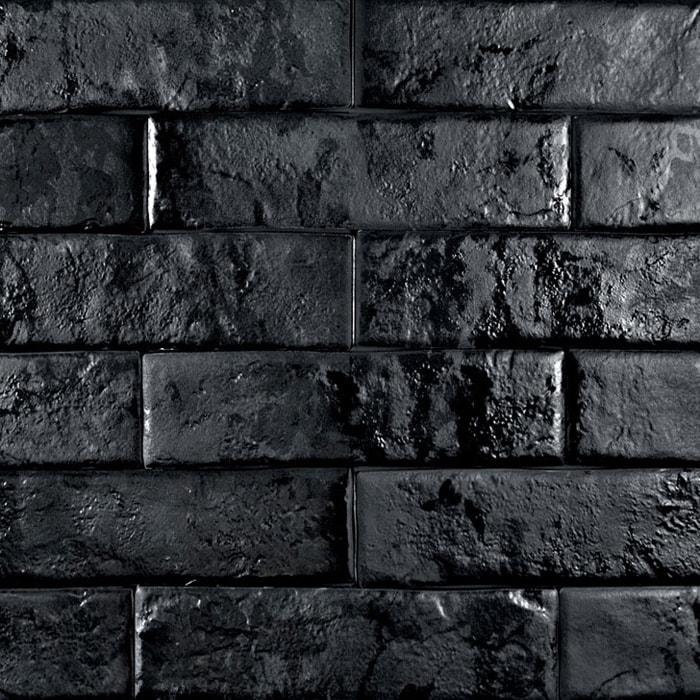 Brickwall Nero Spanish Matt Non Rectified Porcelain Subway Wall Tile 6114