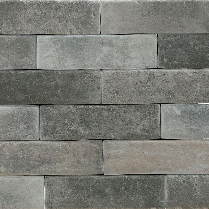 Brickwall Mixed Grey Spanish Matt Non-Rectified Subway Wall Tile 6116