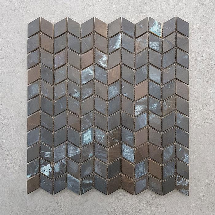 Bronze 3D Effect Mosaic Sheet 7422
