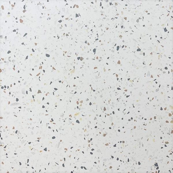 Burano White Terrazzo Look Matt Rectified Porcelain Tile 3813