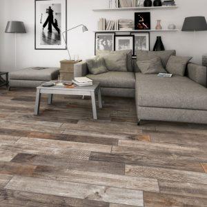 Caramel Timber Look Matt Non-Rectified Italian Porcelain Tiles-A
