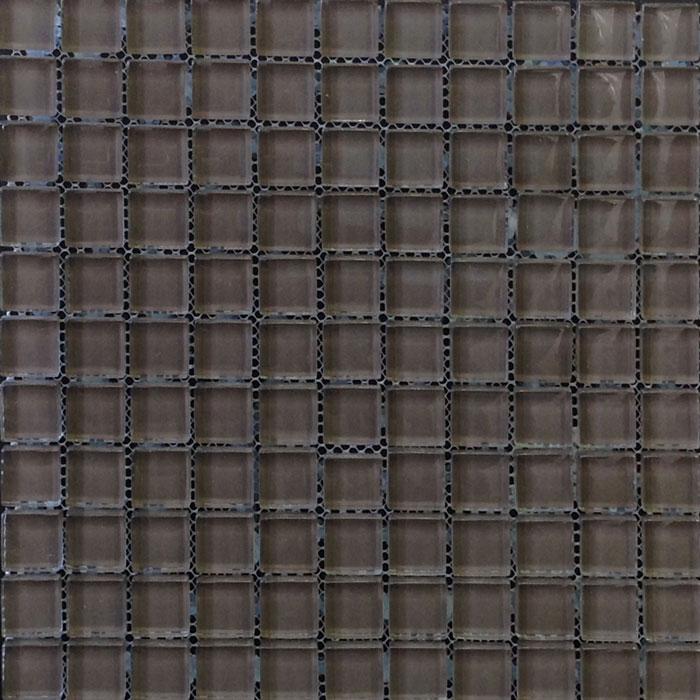 Chocolate Fudge Colour Glass Mosaic Sheet (300x300mm, 23x23mm pieces)(#7332)