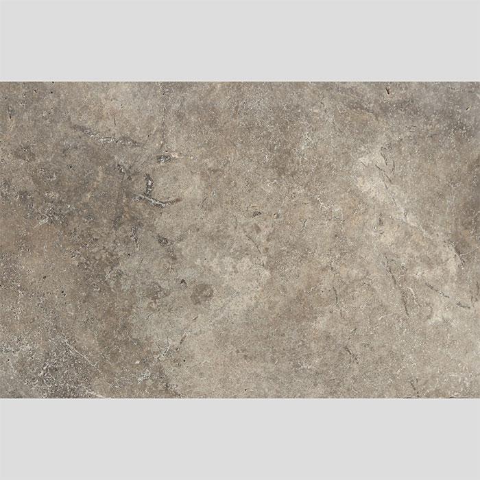 406x610x12mm Cross Cut Tumbled Silver Travertine Tile (#8548)