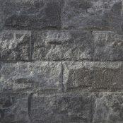 Crystal Black Mushroomed Marble Stackstone Wall Cladding