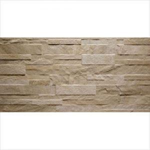 Earth Beige Stackstone Look Glazed Matt Rectified Porcelain Feature Wall Tile