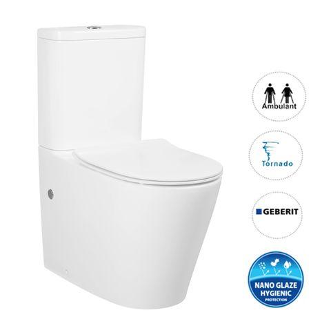 Feanza Tornado X Slim Seat Toilet Suite 9677