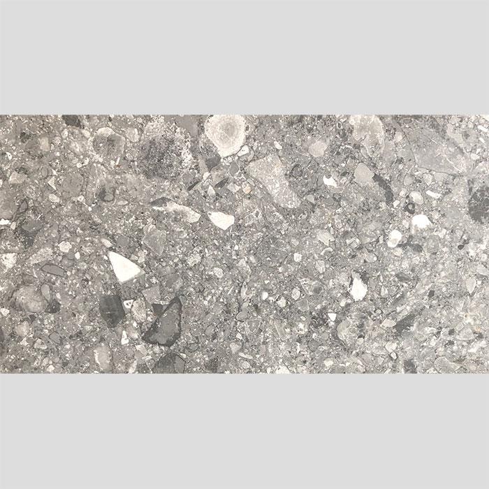 Finestone Dark Grey Matt Rectified Glazed Porcelain Terrazzo Look Tile 3126