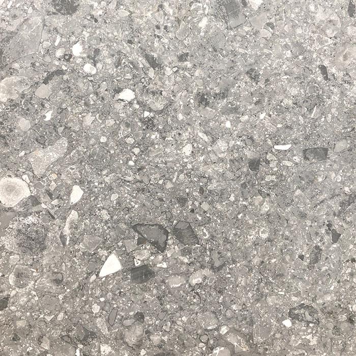 Finestone Dark Grey Terrazzo Look Matt Rectified Glazed Porcelain Floor Tile 3124