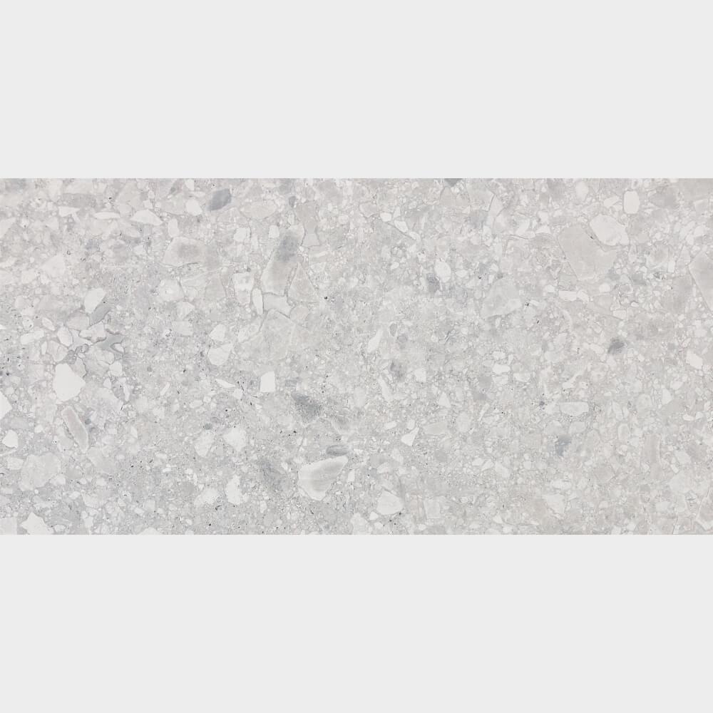 Finestone Light Grey Matt Rectified Glazed Porcelain Terrazzo Look Tile 3125