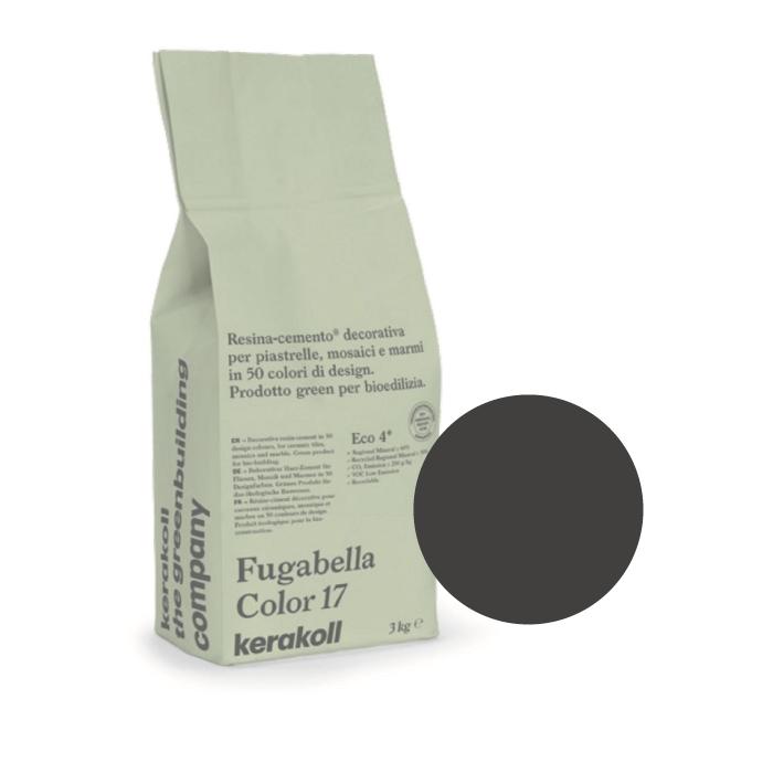3kg Kerakoll Fugabella Colour Resin-Cement Grout No. 11 Charcoal 9843