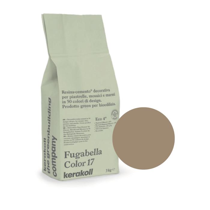 3kg Kerakoll Fugabella Colour Resin-Cement Grout No. 26 Mocha 9857