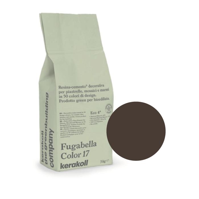 3kg Kerakoll Fugabella Colour Resin-Cement Grout No. 47 Dark Chocolate 9878