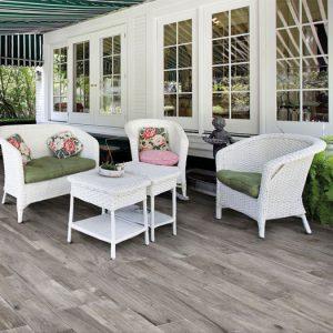 Hard Grey Anti-Slip Italian Timber Look Outdoor Porcelain Tiles-