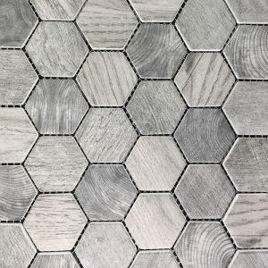 Hexagon Grey MP62 Mosaic