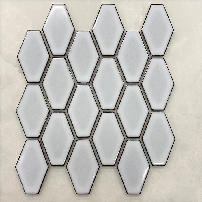 Hexagon White Mosaic Sheet 7512