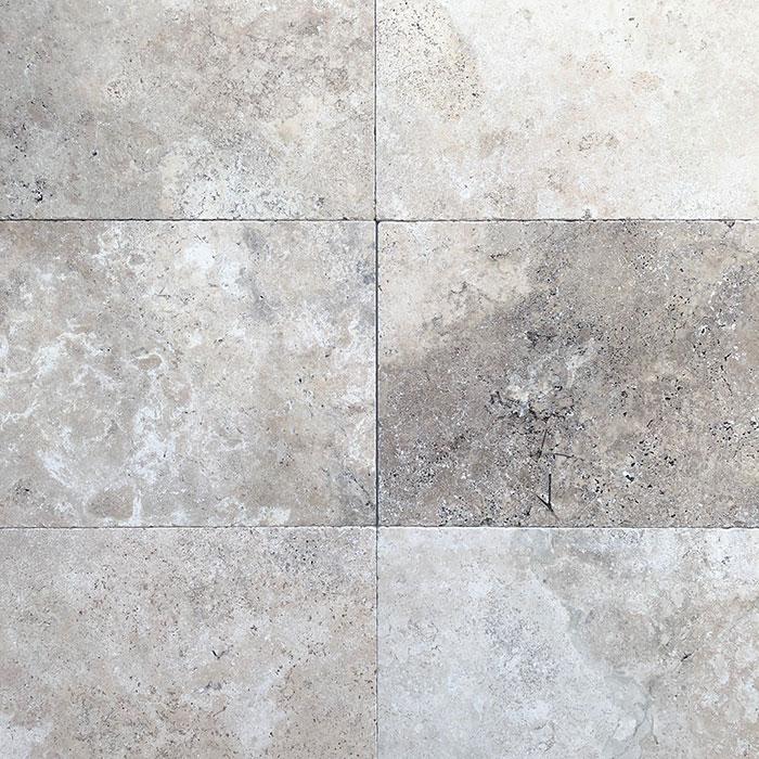 Jasper Grey Tumbled Unfilled Travertine Tile 8717