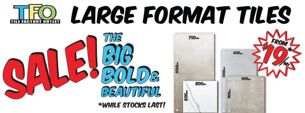 large format tiles november promotion