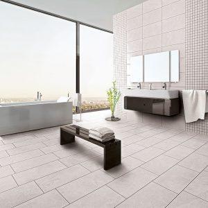 Loop White Slate Look Italian Porcelain Tiles