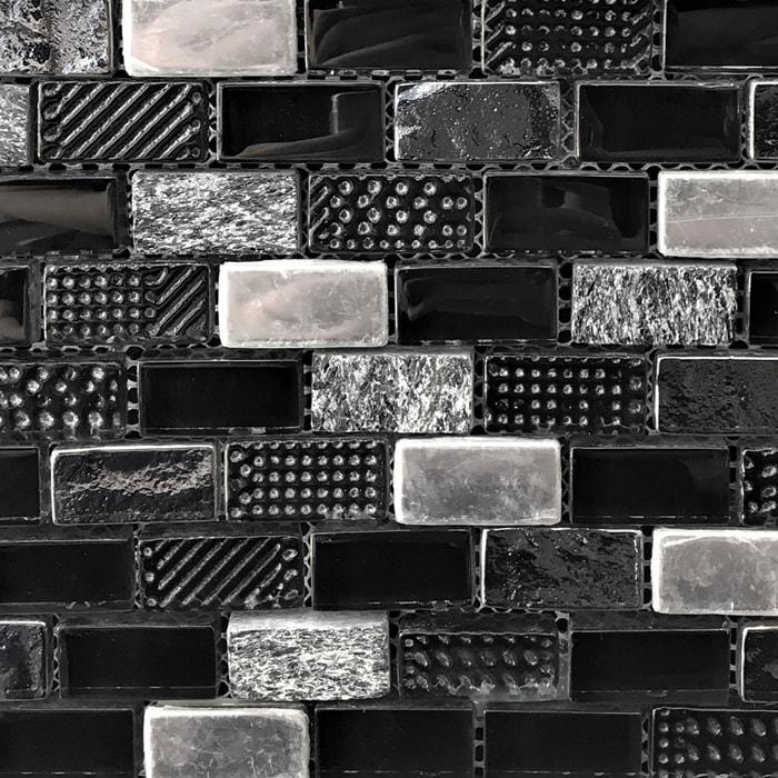 Macbeth Black Mosaic Sheet 285x300mm, 15x30mm pieces 7055
