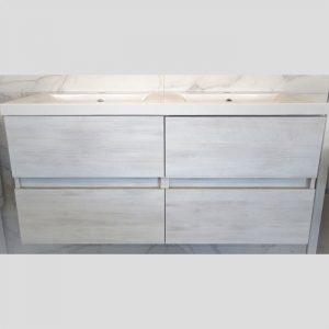 Matrix Wall Hung Vanity - Double Basin, 4 Drawers