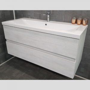 Matrix Wall Hung Vanity – Single Basin, 2 Drawers-