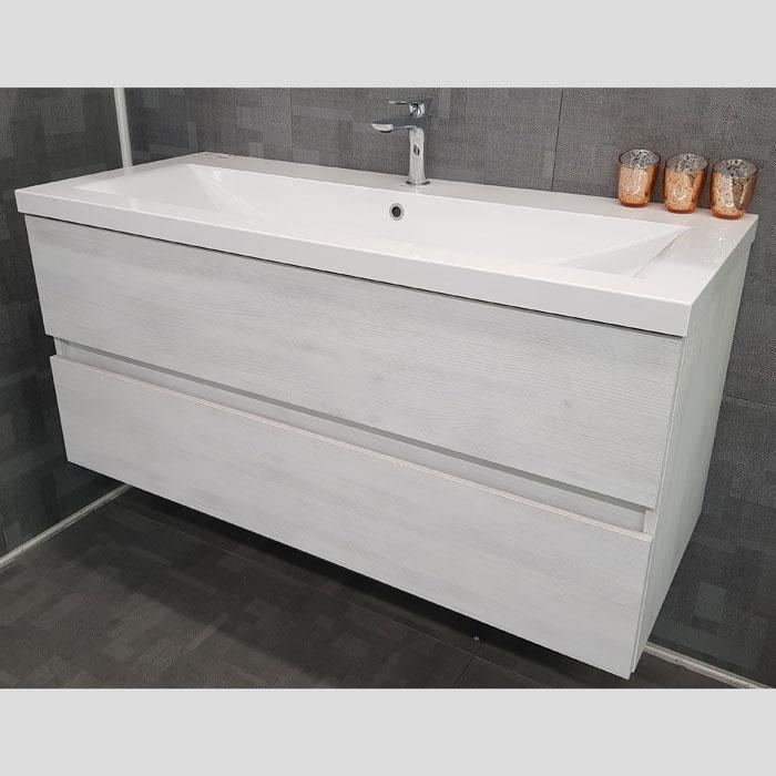 1200(w)x508(d)x540(h)mm Matrix Wall Hung Vanity – Single Basin, 2 Drawers (#9267)