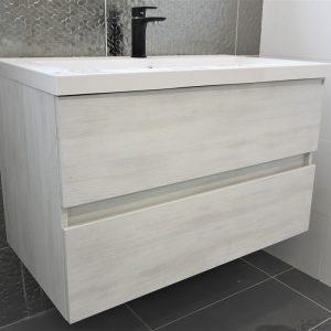 Matrix Wall Hung Vanity - Single Basin, 2 Drawers
