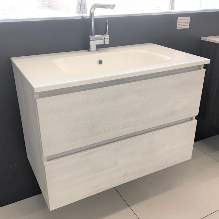 810(w)x460(d)x555(h)mm Matrix Wall Hung Vanity – Single Basin, 2 Drawers (#9416)