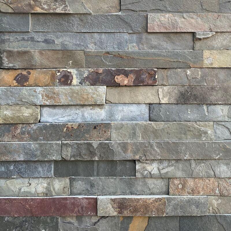 Multicolour Slate Interlock Stack Stone 8759
