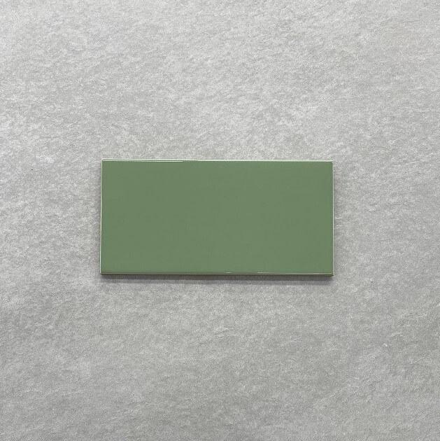 Green Olive Gloss Ceramic Spanish Subway Wall Tile 4219