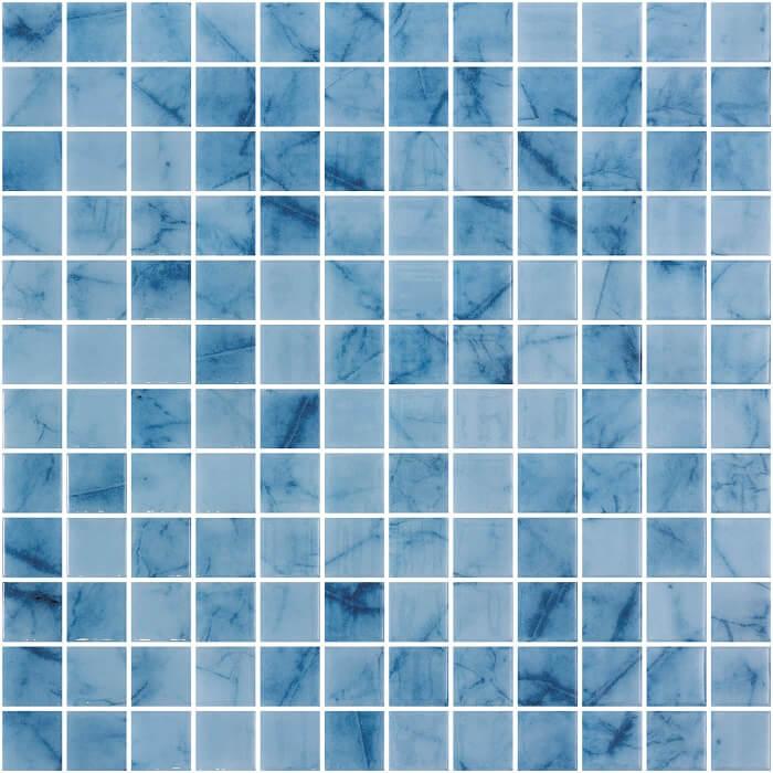 Phiphi Blue Spanish Polyurethane Cord Glass Pool Mosaic 7576