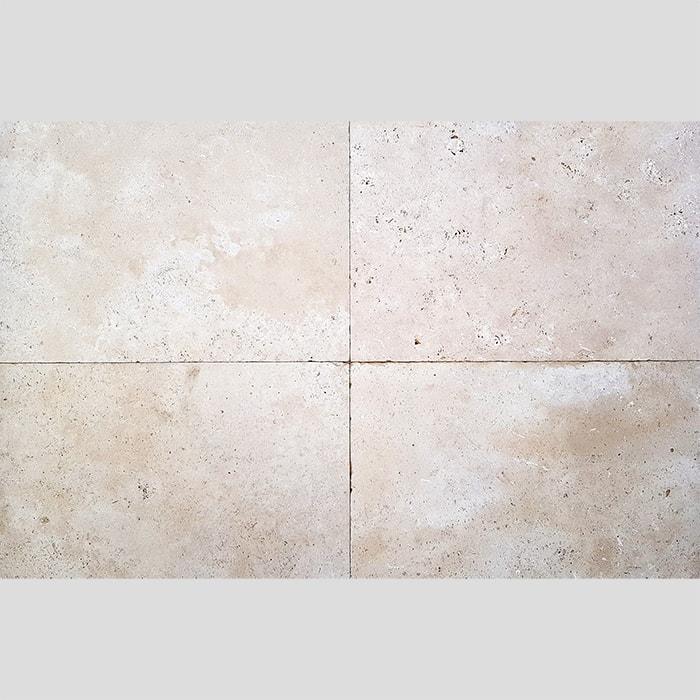 406x610x12mm Premium Tumbled Travertine Tile (#8657)