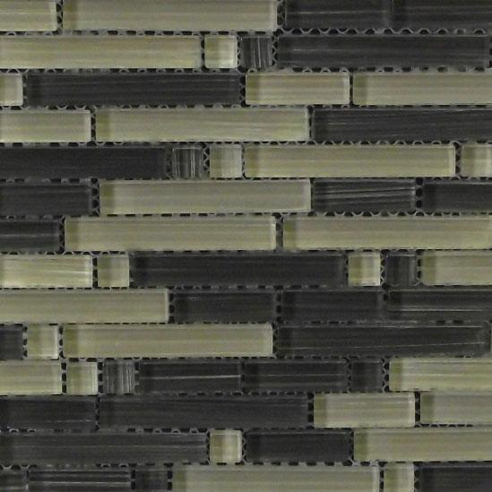 River Pebble Coloured Glass Mosaic Sheet 300x300mm7502