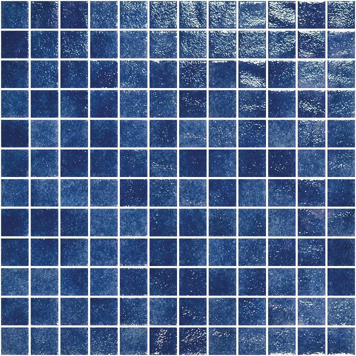 Royal Blue Spanish Polyurethane Cord Glass Pool Mosaic 7493