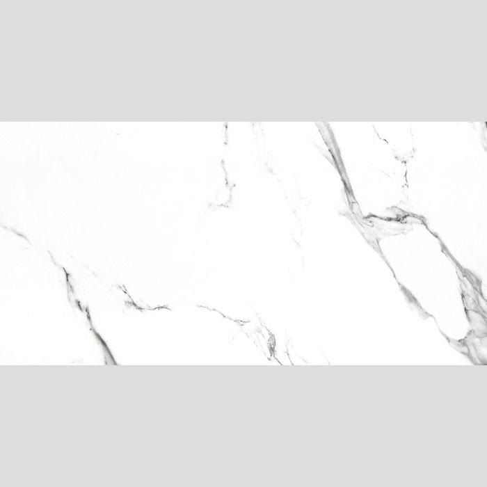 600x1200mm Statuario Marble Look Glazed Rectified Polished Porcelain Floor Tile (#5607)