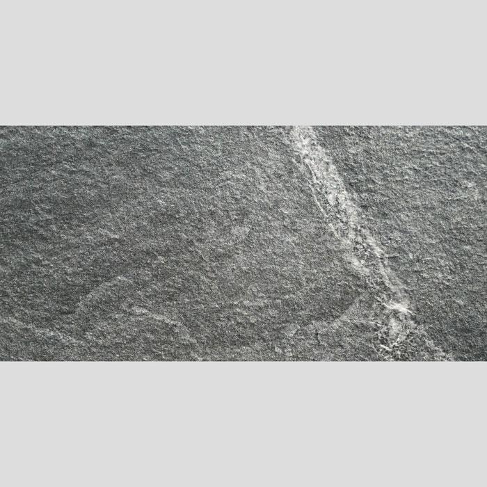 Stone Black Anti-Slip Non-Rectified Italian Outdoor Porcelain Tile (#6781)