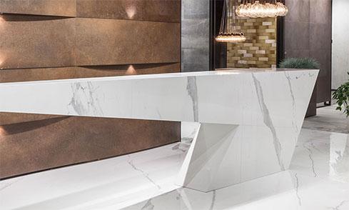 Stone Grey Italian Maxfine Polished Porcelain Floor and Wall Panel-C