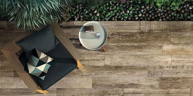 Ceramic faux wood tiles