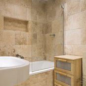 Travertine Tiles for Bathroom