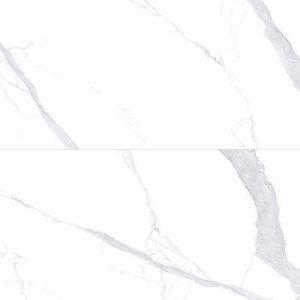 Tuscany Bianco Polished Marble Look Porcelain Tile